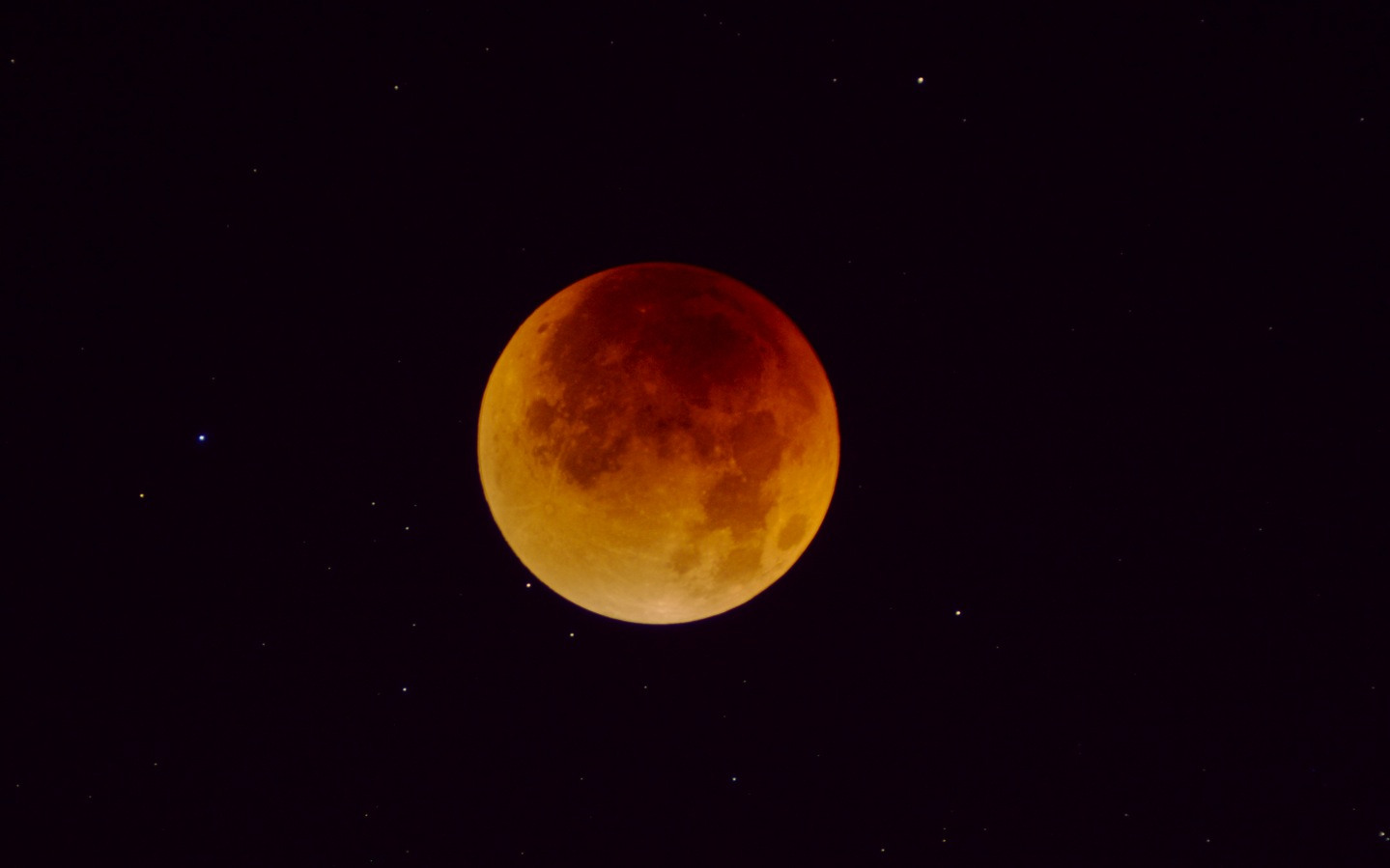 Lunar Eclipse with Stars lg